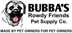 bubba's rowdy friends pet supply co logo
