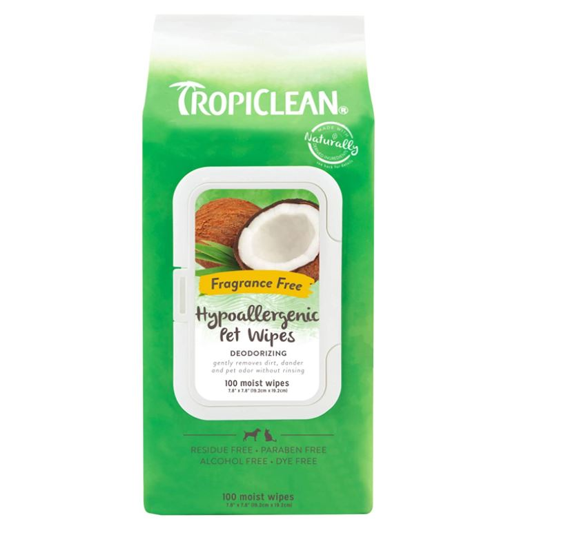 TropiClean Hypoallergenic Cleaning Wipes for Pets